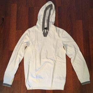 Whitelong sleeve hoodie tee